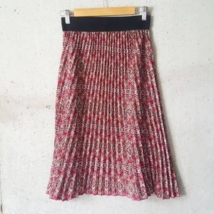 Lularoe Jill pink paisley pleated midi skirt small